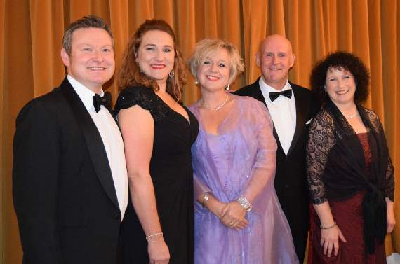 Mayor's gala evening brought the town hall audience to their feet