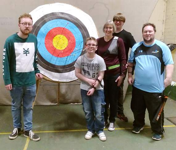 Archery beginners go out on a limb