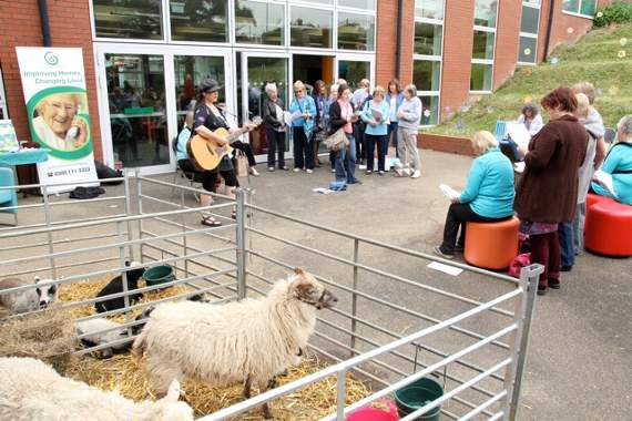 Did ewe enjoy the singing at Barry Library?