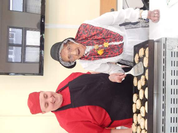 Proud Resident Margaret Morris Wore Traditional Dress For The Celebrations And Helped To Bake Welsh Cakes