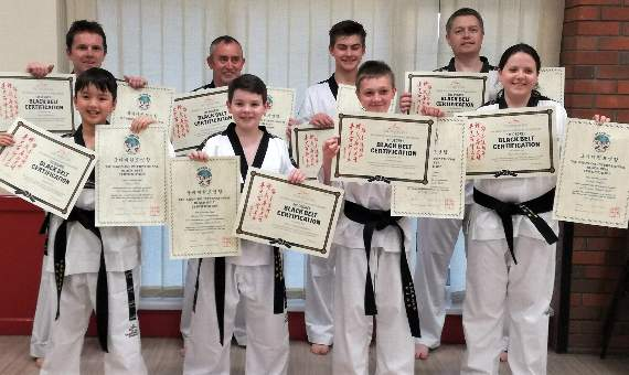 Black belt success for JSTKD students