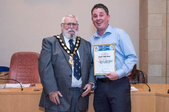 HEROES ALL! Mayor's citizenship awards  are presented in Bridgend county borough