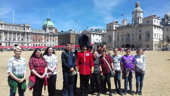Cadets get preview of Trooping the Colour